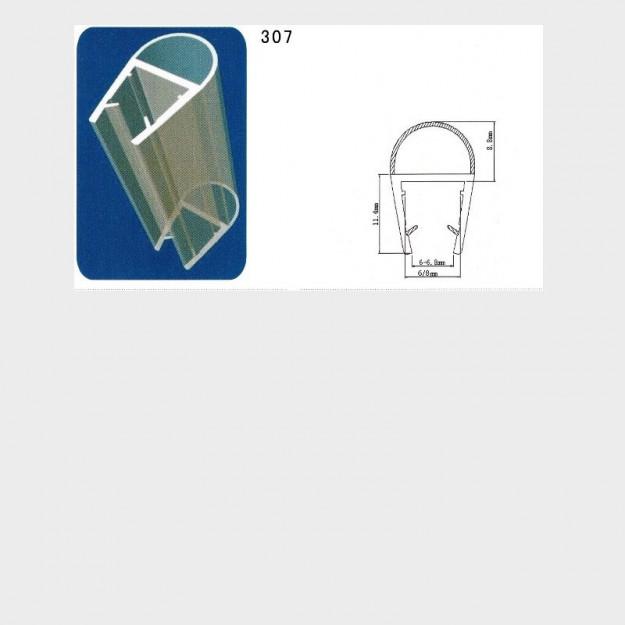 Coppia guarnizioni bombate: I-GUA-307, 2 pezzi, spessore 6 o 8 mm
