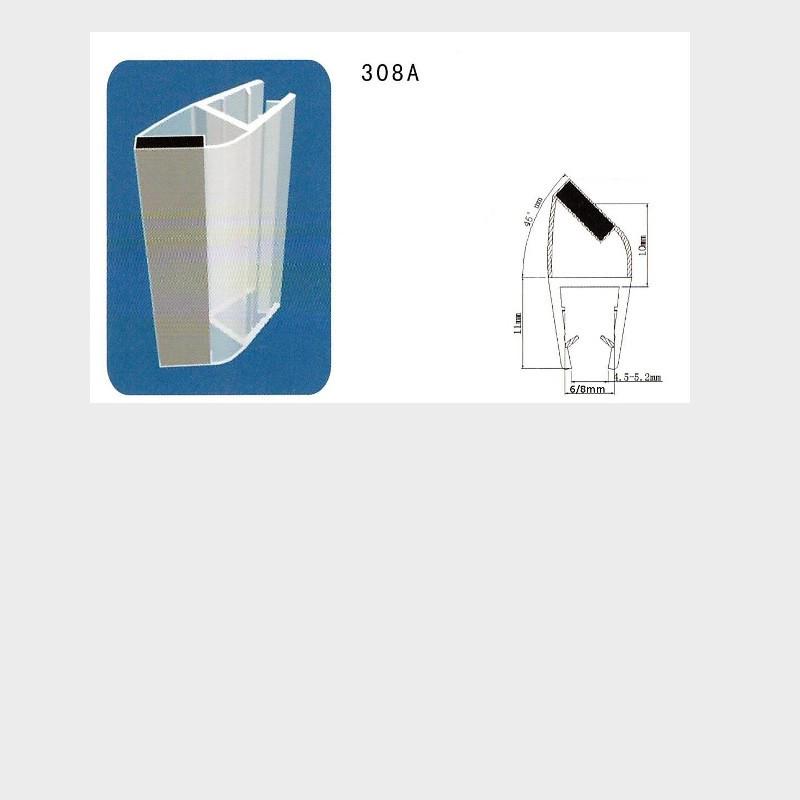 Coppia di guarnizioni con calamita in punta per for Guarnizioni box doccia