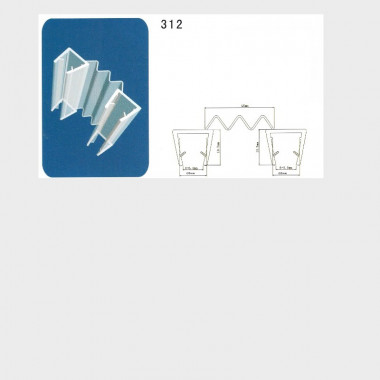 Guarnizione singola con aletta a zig-zag  I-GUA-312 - 1 pezzo, 6mm