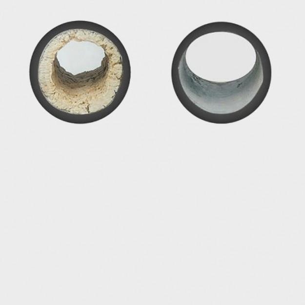 Tubazione acqua PRIMA e DOPO dell'installazione dispositivo anticalcare