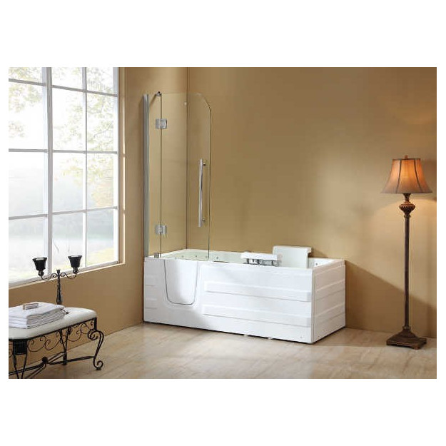 Vasca da bagno con sportello di ingresso e cabina sopravasca