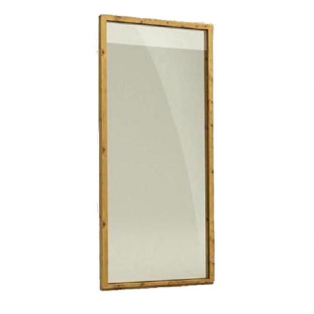 Parete in legno e vetro temprato: