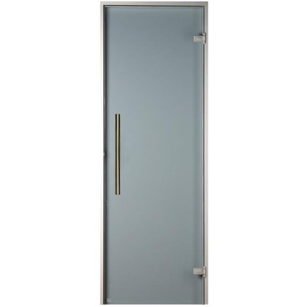 porta in vetro satinato per bagno turco