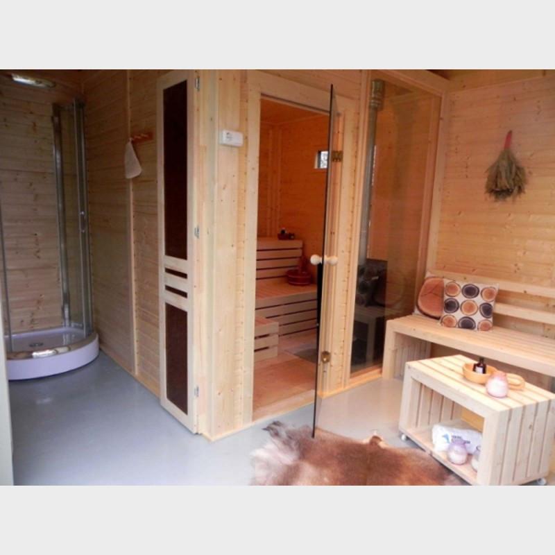 Interno gazebo benessere with sauna da giardino with saune - Cabine sauna per casa ...