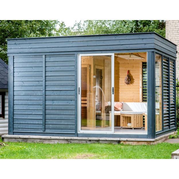 Gazebo centro benessere da esterno con sauna doccia in offerta