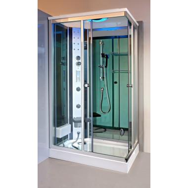 Box doccia idromassaggio Krystal 120x80 cm