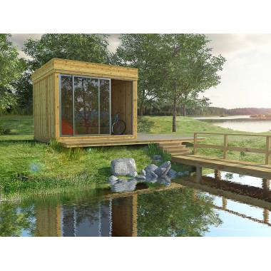 Gazebo in legno da giardino 3x3m GARDENCUBE33S
