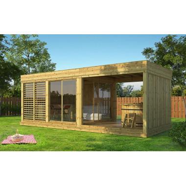 Gazebo in legno da giardino 7x3 m GARDENCUBE73