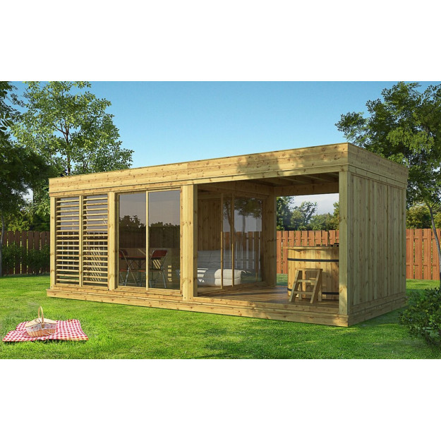 Gazebo in legno da giardino 7x3 m gardencube73 in offerta for Club piscine gazebo