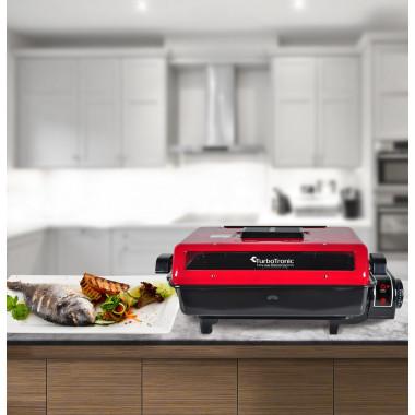 Griglia barbecue elettrica 920W per carne pesce e verdura