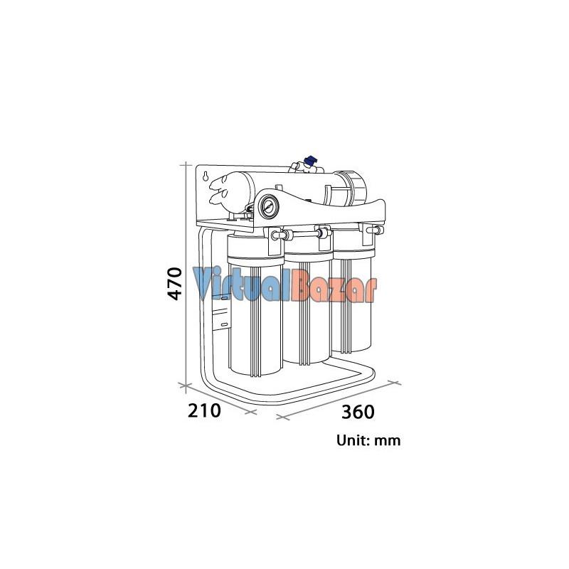 Impianto osmosi inversa a filtrazione diretta 65l/h ottimo prezzo