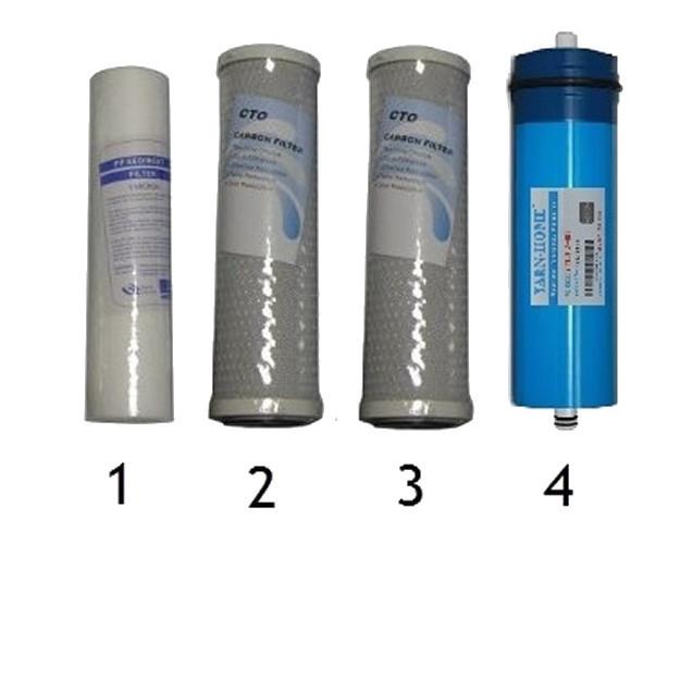 Set filtri completo per impianto ad osmosi inversa senza tanica prezzo