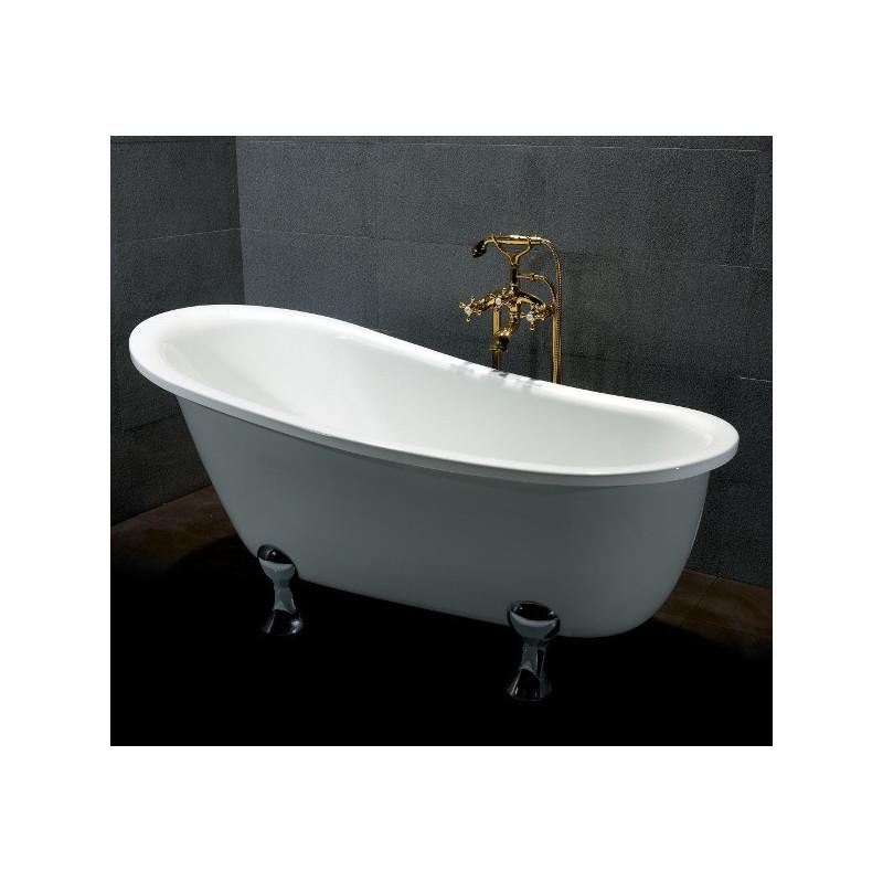 Vasca da bagno Quasar con piedini stile retrò buon prezzo 165 x 80 cm