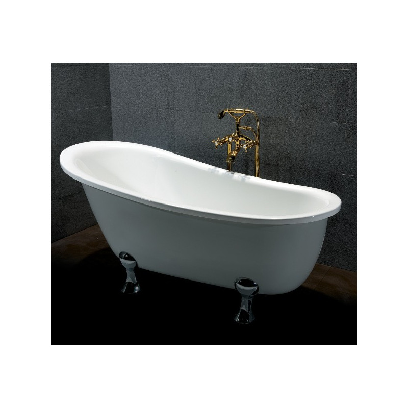 Vasca da bagno esterna 140 vasca con piedini freestanding in stile retr bagni d autore vasca - Vasca da bagno con piedini prezzi ...