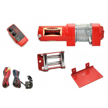 Verricello argano elettrico a fune con filocomando e comando wireless ATV 3500 Lbs