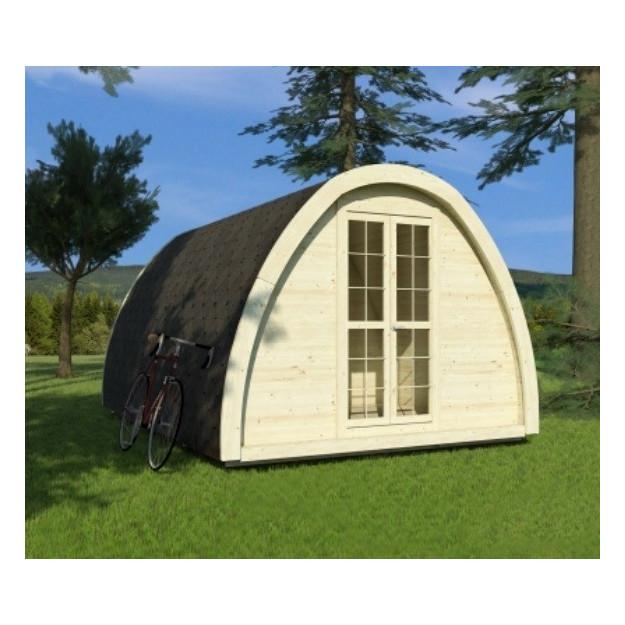 Gazebo in legno isolato da giardino e campeggio miglior prezzo for Casette in legno abitabili arredate