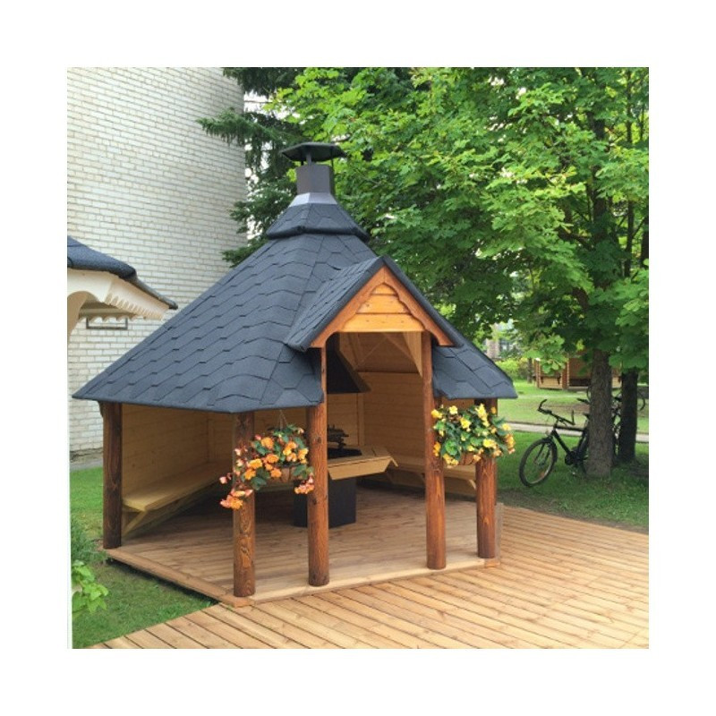 Terrazzo base pavimentazione in legno abete da esterno - VirtualBazar