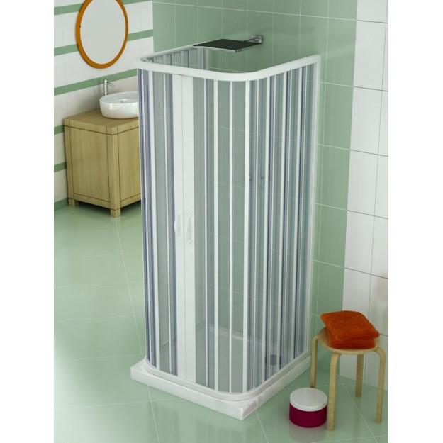 Cabina doccia estensibile 3 lati in PVC Saturnia