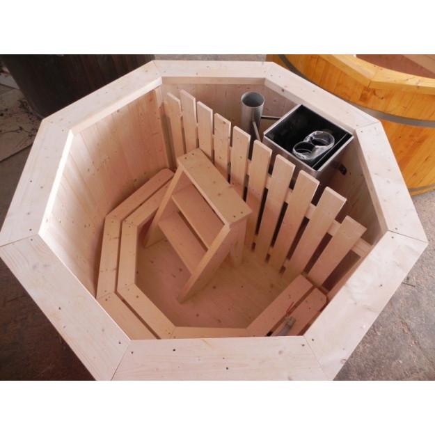 7e5e0155b1d3 Vasca a tinozza a botte da esterno con stufa a legna ottimo prezzo