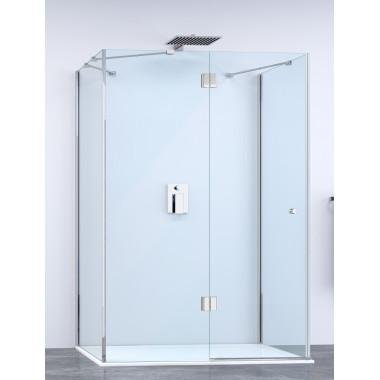 Cabina doccia 3 lati con anta battente, porta frontale a destra