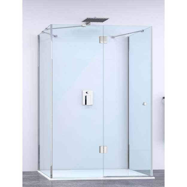 Box doccia 3 lati con anta battente super lusso diverse - Cabina doccia prezzo ...