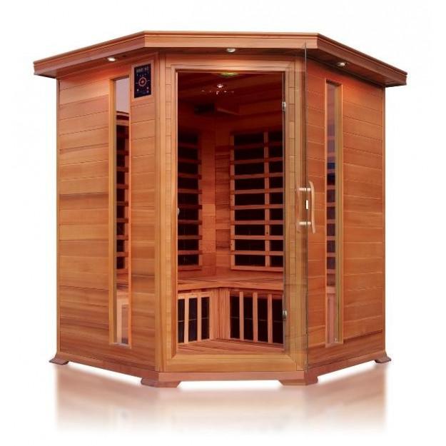 Perfect sauna ad infrarossi a pannelli di carbonio per - Costo sauna in casa ...