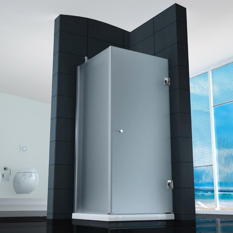 Cabina doccia anta battente quadrata vetro 8 mm a poco prezzo - Cabine doccia vetro ...