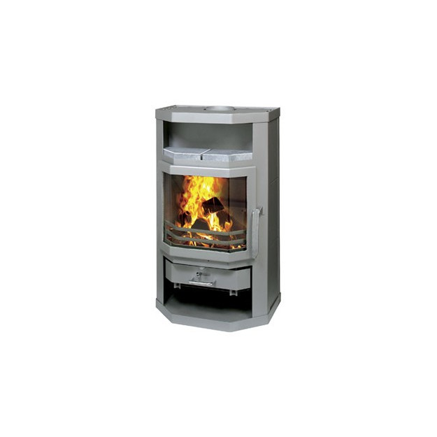 Stufa a legna in acciaio per ambienti fino 120 mc ottimo prezzo online - Stufa a legna per riscaldamento ...