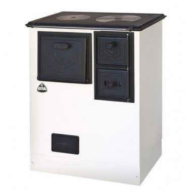 Stufa cucina a legna in acciaio di potenza 12kW
