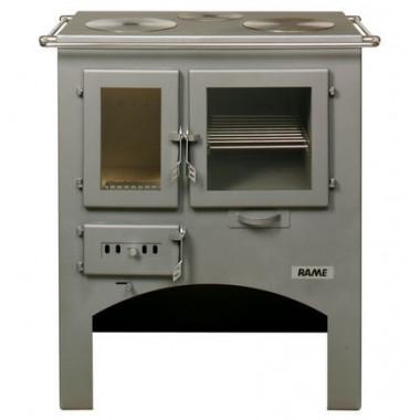Stufa cucina a legna in acciaio di potenza 6kW