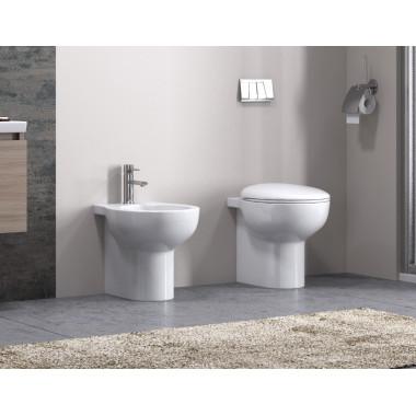 Coppia di sanitari Vaso WC e bidet da appoggio a terra