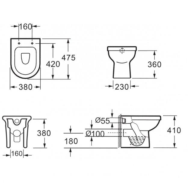 Coppia di sanitari vaso WC e bidet da appoggio a terra ottimo prezzo