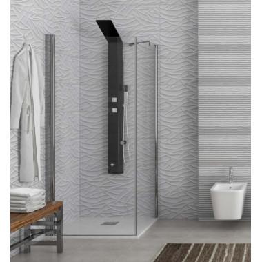 Cabina doccia un'anta battente e una fissa installazione reversibile