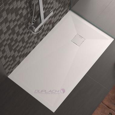 Piatto doccia gealcoat con griglia nascosta spessore 3cm Hidden profondità 70cm