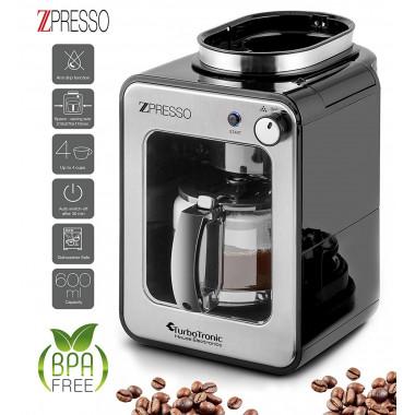 Macchina del caffè con macinino integrato, eroga fino a 4 tazze