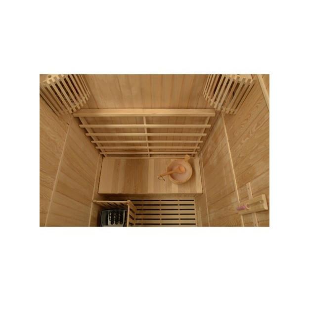 vista dell'interno sauna