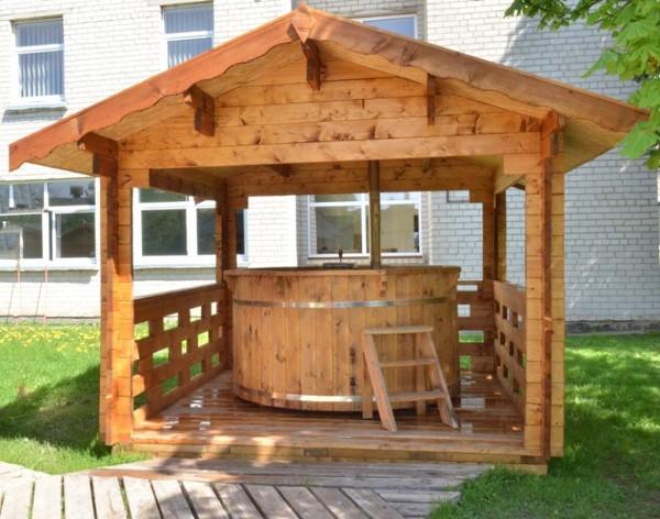 Vasca Da Esterno Riscaldata : Vasca a tinozza a botte da esterno con stufa a legna ottimo prezzo