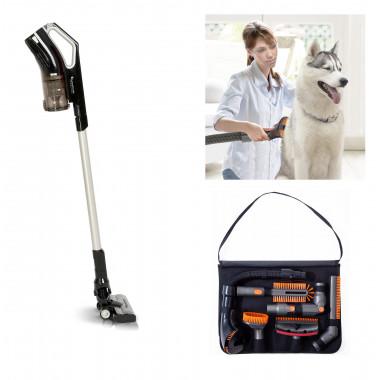 Aspirapolvere ciclonico senza fili multifunzione con spazzola con indicatore LED e KIT spazzola per animali domestici 180W