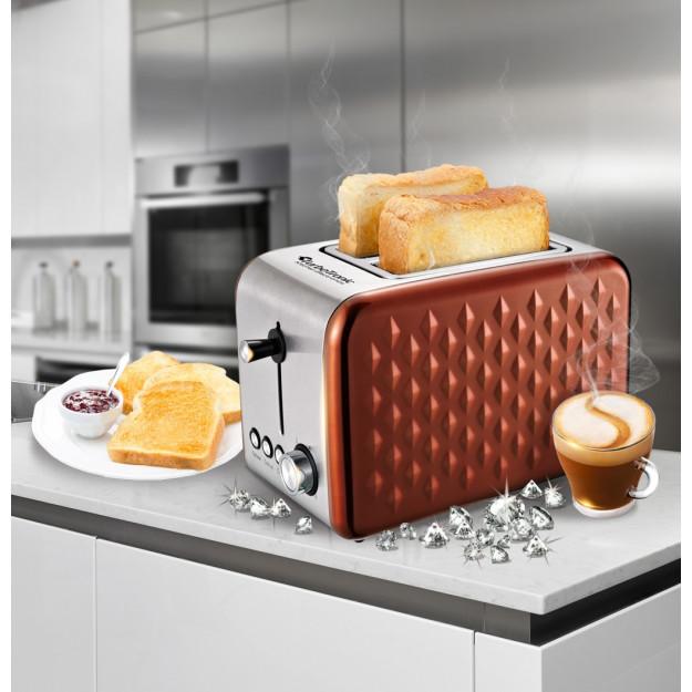 È dotato di slot extra larghi per toast, waffle congelati, pasticcini tostapane e altro.