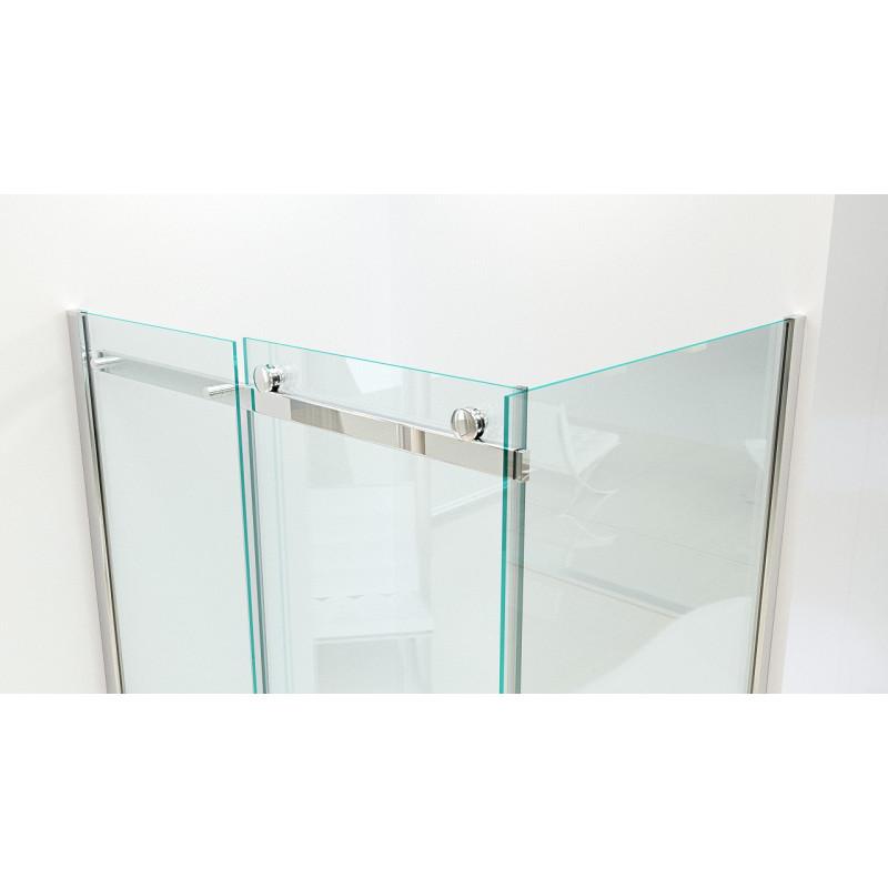 Box doccia in vetro temprato scorrevole 8mm 3 lati easy clean prezzi - Box doccia in vetro prezzi ...
