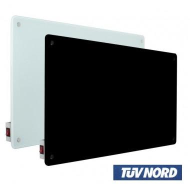 Radiatore elettrico in vetro bianco e nero per riscaldamento ambienti ad infrarossi