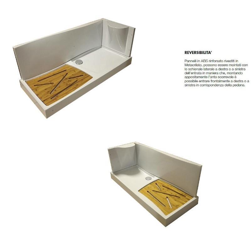 Cabina Box Doccia 170 X 70 Per Sostituzione Vasca.Kit Cabina E Piatto Doccia 170x70 Per Sostituzione Vasca Offerta