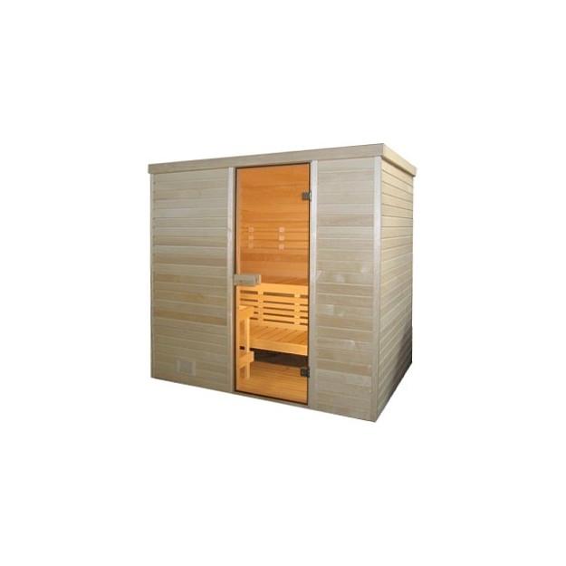 Sauna finlandese in abete nordico 120X180 cm