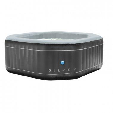 Piscina idromassaggio gonfiabile SILVER da esterno 5/6 posti, diametro 195 cm (ottagonale)