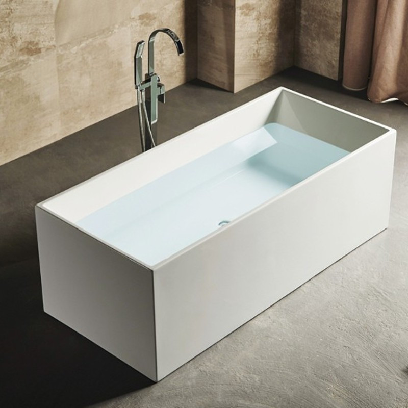 Vasca da bagno freestanding da appoggio 170x75 cm polaris - Vasca da bagno freestanding ...
