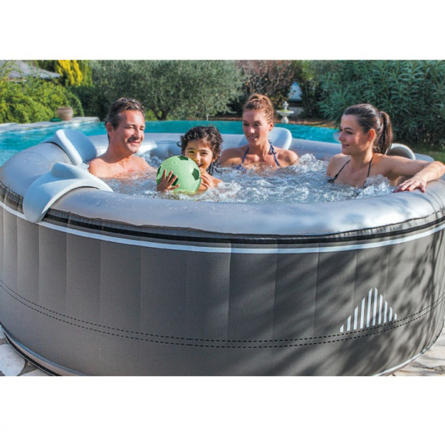 Piscina idromassaggio gonfiabile esterno 4 posti rotonda for Piscina 5 metros diametro