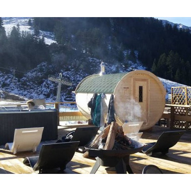 Sauna finlandese a botte funzionante