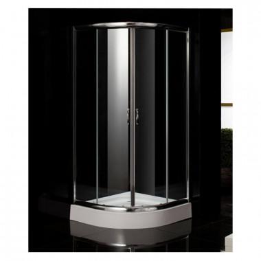 Box doccia semicircolare in vetro 90x90