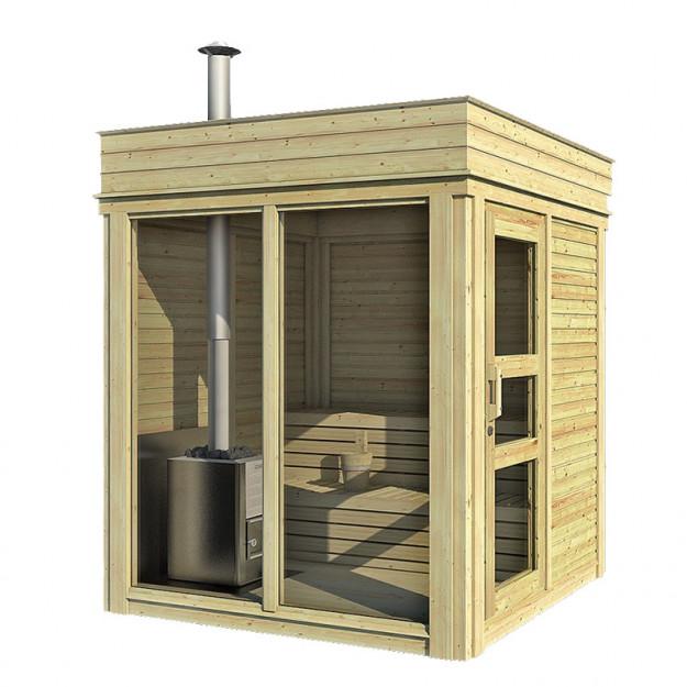 Sauna da esterno 2x2m