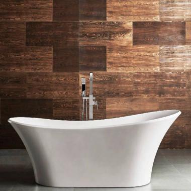 Vasca da bagno Sirio freestanding 180x80 cm, struttura ergonomica